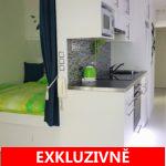 Pronájem zařízeného, světlého bytu 1+kk, 27 m2, ul. Bítovská, Praha 4 - Michle