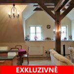 ( Pronajato ) Pronájem mezonetového, luxusního bytu, 4+kk s galerií, 165 m2 s výhledem na Pražský hrad, ul. U Lužického semináře, Praha 1 -Malá Strana